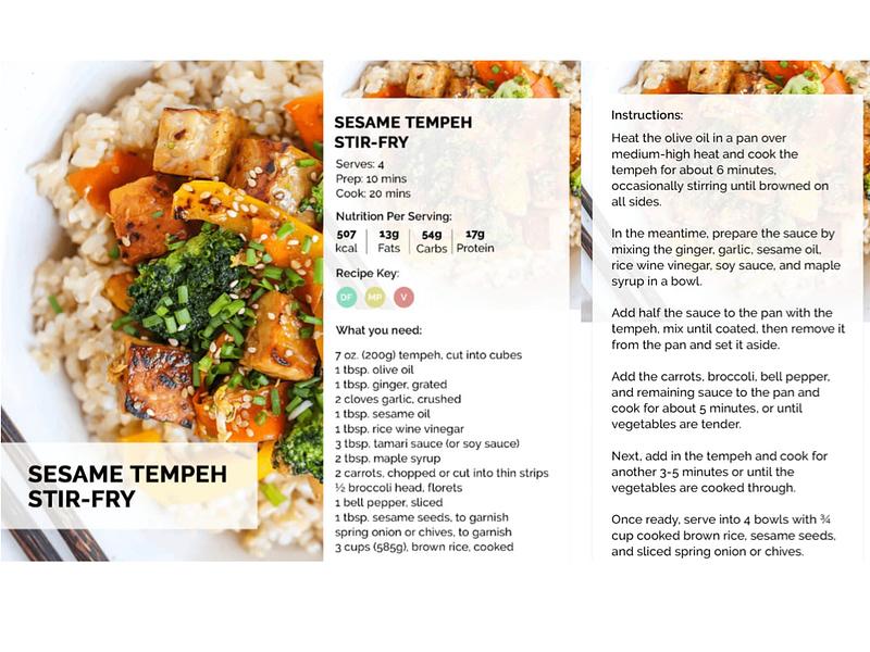 Sesame Tempeh Stir-Fry
